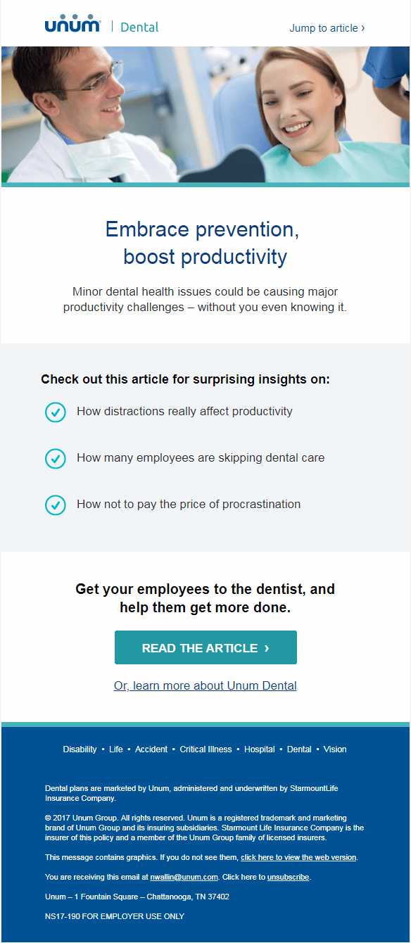 Dental Employer Email 2