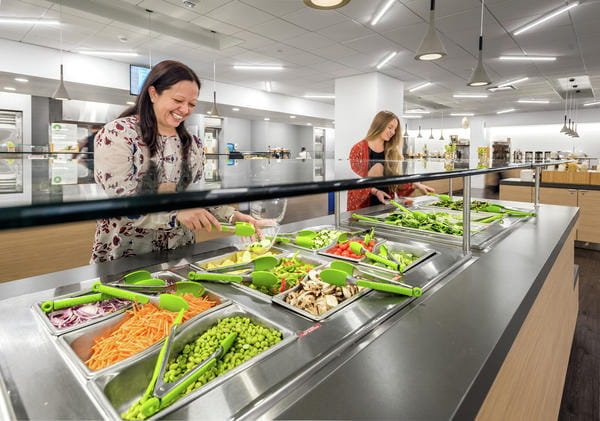 Employees at Unum's Portland, Maine campus enjoy subsidized healthy food choices through the company's Eat Well program.
